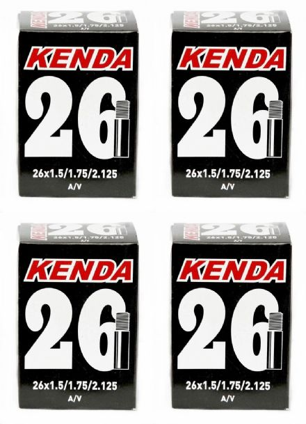 "4x KENDA 26"" Mountain Bike Inner Tube - Schrader Car Type Valve x 4"